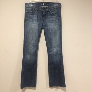 7 For All Mankind Bootcut Jeans Distressed Size 25